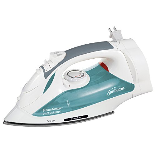 Sunbeam Steam Master Iron with Retractable Cord, White & Green