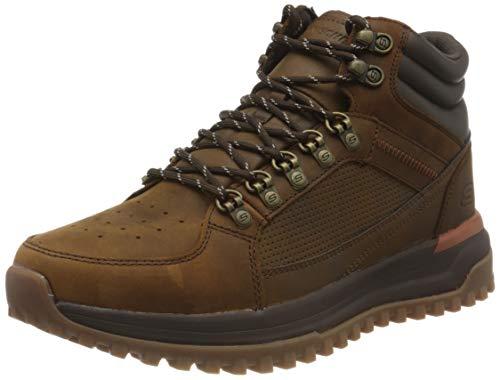 Skechers Mid Top Lace Up, Zapatillas Hombre, marrón Oscuro, 42 EU