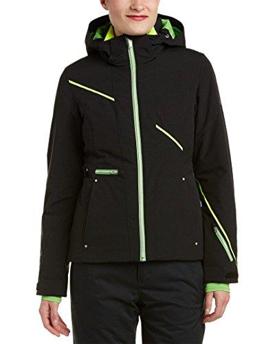 Spyder Damen Skijacke Prevail, Schwarz (Black/Green Flash/Bryte Yellow), 8, 154216018008P, Gr. 36