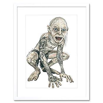 Gollum Lord Rings Tattoo Inked IKON Framed Art Print by W.Maguire F12X10597