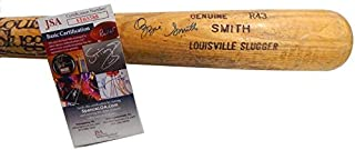 1980-83 Ozzie Smith Signed Game Used LS 33