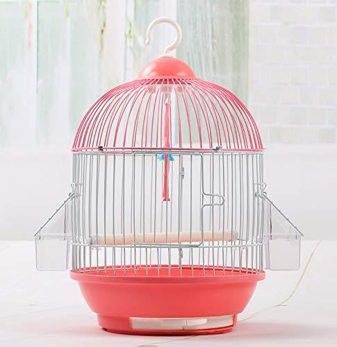 GSDJU Petite Cage à Oiseaux Ronde Tigre Peau Perle Perroquet Fer en Métal Cage à Oiseaux Jardin Accessoires décoration extérieure Maison en Plein air Suspendus