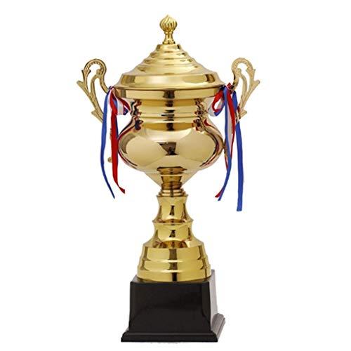 HFJKD Trophy, Personal Creative High-End Trophy Team Award Trofeo Personalización Trofeo MVP Trofeo Decoraciones honoríficas, Oro