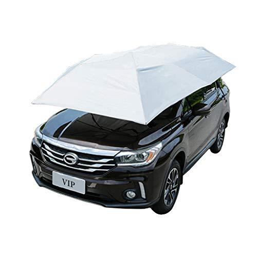 Jin Paraplutent voor auto, met tent, UV-bescherming, sneeuw, storm, hagel, (165,35 x 86,6 inch), blauw en grijs