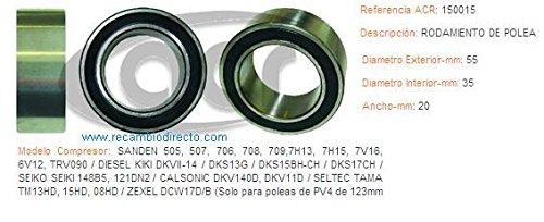 ACR - 150015 - Rodamiento 55 X 35 X 20 para polea de compresor Aire acondic