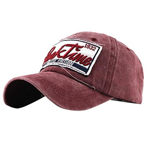 LOPILY Sombreros Gorras de béisbol La Gorra Deportiva Sombreros Cowboy Casquillo al Aire Libre Sombrero de Sol Sombrero de Mujer y Hombre(Roja)