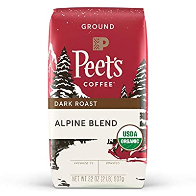 Peet's Coffee Organic Alpine Blend, Dark Roast Ground Coffee, 32oz
