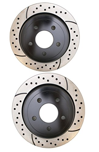 Prime Choice Auto Parts PR64107LR Performance Drilled and Slotted Brake Rotor Pair