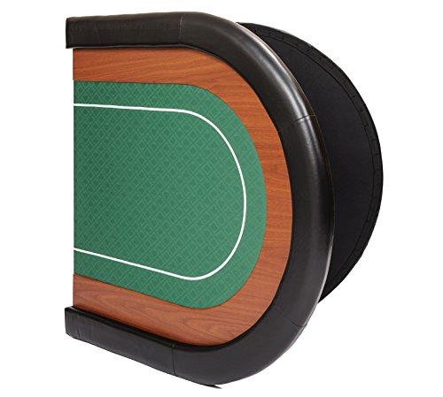 Riverboat Gaming Champion faltbare Pokerauflage mit grünem wasserabweisenden Stoff und Tasche – Pokertisch 180cm - 6