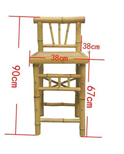 4tlg. Bar RIVAS + Bambus Theke Tresen Barhocker OUTDOOR - 4