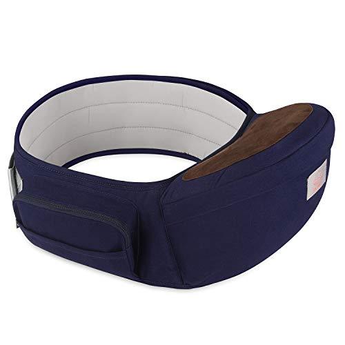 GAGAKU Portabebé Taburete de Cintura para Bebé 0-36 Meses Recién Nacido - Azul