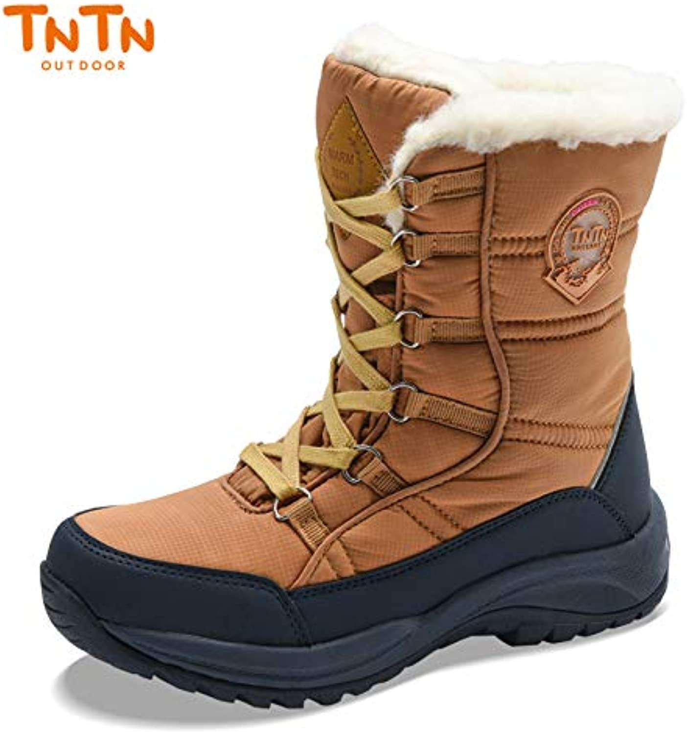TNTN Outdoor Winter High Snow Country Thickened Wool Warm Cashmere shoes Cotton Boots for Women and Men Waterproof Snow Sking