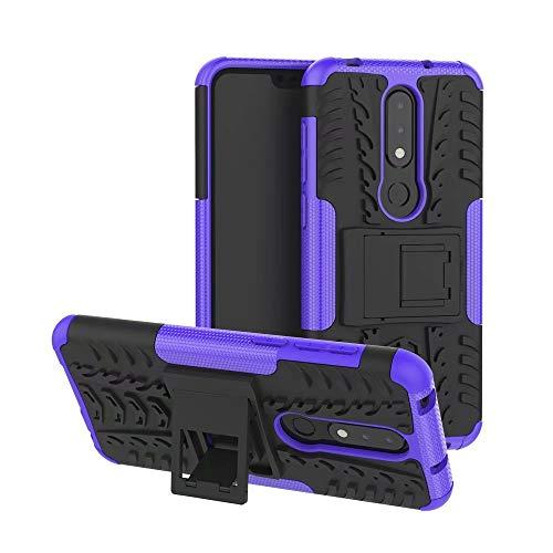Smfu Funda Compatible Nokia 6.1 Plus/X6 Carcasa Rugged Híbr