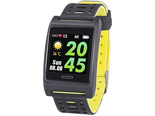 Trevi T-FIT 280 GPS Smart Fitness Band mit GPS Tracker und Herzfrequenzmesser, Social Benachrichtigungen, Fitness- und Schlafüberwachung, IP67, Bluetooth, wiederaufladbarer Akku, Gelb