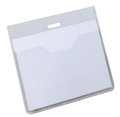 Durable 813619 Namensschilderhülle (offene Tasche, 60 x 90 mm) Packung à 20 Stück, transparent