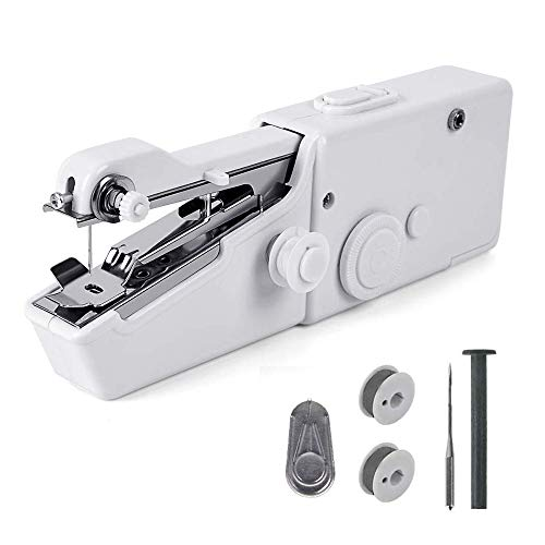 Handheld Sewing Machine - Mini Cordless Portable Electric Sewing Machine-Cordless Small Quick Handy Stitch Handheld Sewing Machine for Fabric Clothing Kids Cloth Pet Clothes Home Travel Use