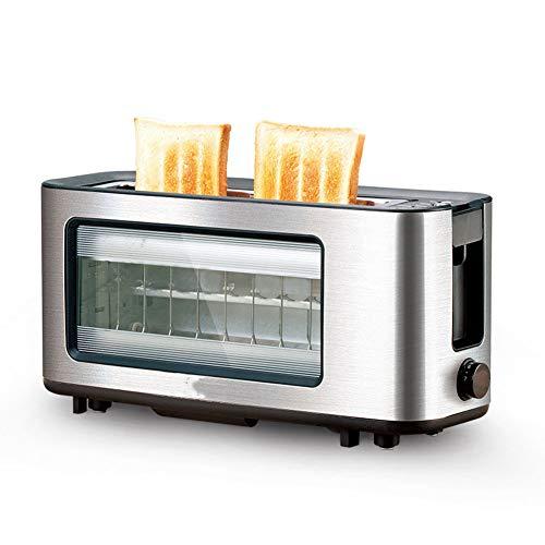 Tostadora-Máquina de desayuno/tostadora, ranura larga/ventana/hogar/multifunción, 1100W