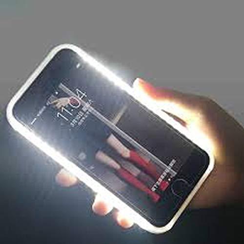 OXO - Cover Luminosa per Selfie con Illuminazione LED Ricaricabile, Flash, Interruttore a intensità variabile, per iPhone 5S e 5SE, Colore: Bianco