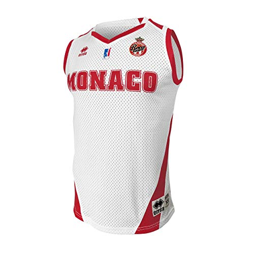 AS Monaco Basketball-Trikot offiziell 2019-2020 Basketball Unisex XXL weiß