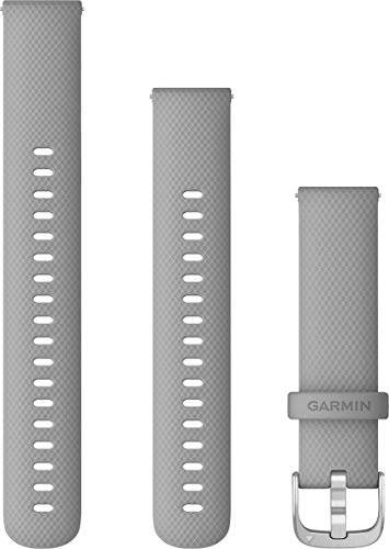 Bracelet vivoactive 4S, 18mm, Silicone Gray Boucle Stainless