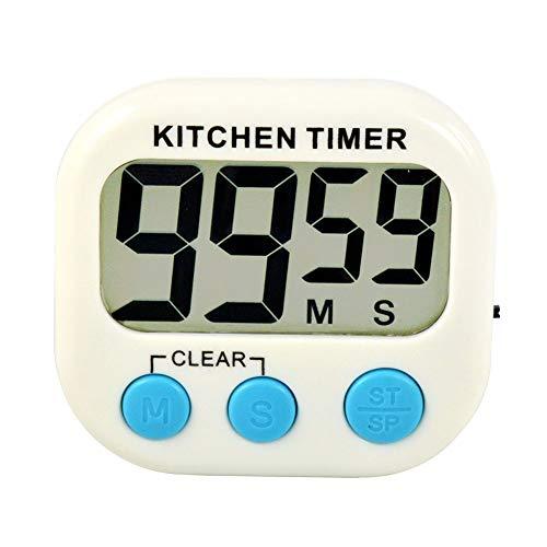 Szaerfa Cocina digital cocina gran LCD contador de tiempo abajo hasta reloj alarma magnético
