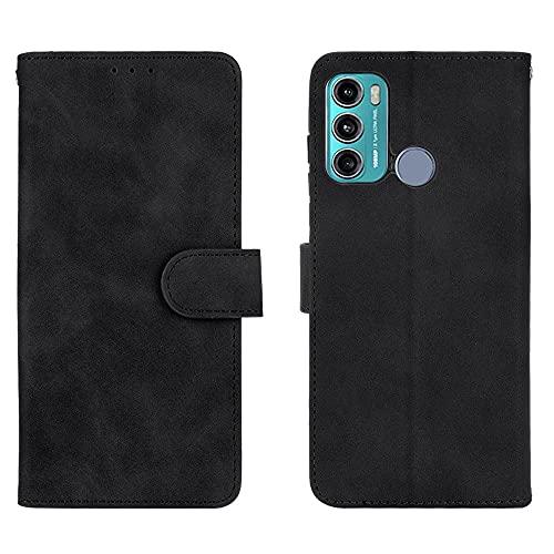 Cubierta protectora Funda de billetera para Motorola Moto G60, para Motorola Moto G40 Fusle Fusion, cartera de cuero PU con titular de la tarjeta de crédito Tapa protectora a prueba de golpes