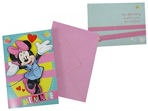 Disney Minnie Maus Geburtstagskarte mit 3D Optik