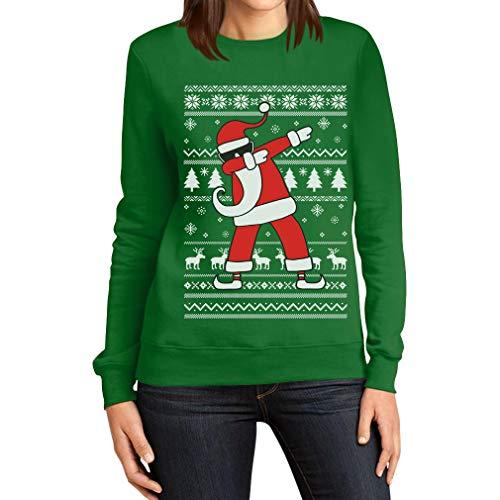 Boże Narodzenie Dab od Świętego Mikołaja damski sweter bożonarodzeniowy