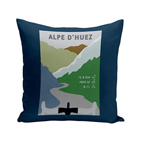 Fabulous Coussin 40x40 cm Alpe d'Huez Cyclisme Vélo France Montagne Tour