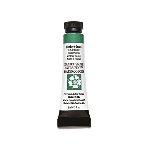 DANIEL SMITH 284610042 Extra Fine Watercolors Tube, 5ml, Hooker's Green