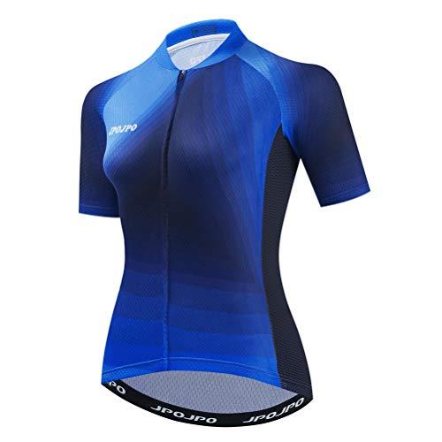 Damen Radtrikot Fahrradshirt Sommer Kurzarm Radbekleidung Gr. X-Large, Cu0018