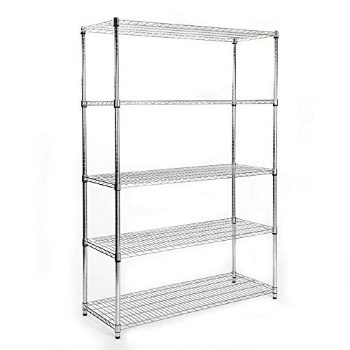 Spice Rack, Kitchen Organizer Cabinet 29in, Countertop Pantry Shelf, Multipurpose Storage Shelves (Space Gray, Large, 3-Tier)