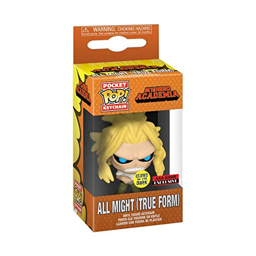 Funko My Hero Academia All Might (GITD) Llavero de bolsillo Pop (AAA Anime Exclusive)