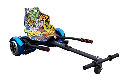 """Gift Gadgets Ultra Hoverkart Go Kart-Sitzaufsatz für selbstbalancierende Roller, passend für alle Balance Boards passend für 6.5\"""", 8\"""" und 10\"""", Graffiti Funk"""