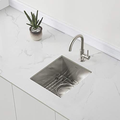 ZUHNE Small Undermount Bar Sink or RV Kitchen Sink,16-Gauge Stainless (13 by 15 Inch)