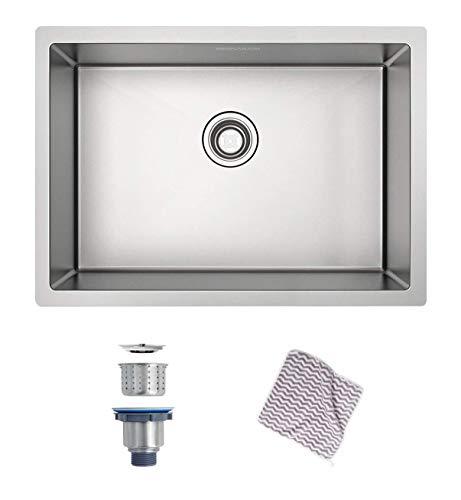 "MENSEAJOR Undermount Sink, 27"" x 18"" Single Bowl Kitchen Sink Undermount Stainless Steel Kitchen Sink, Bar or Prep Kitchen sink"