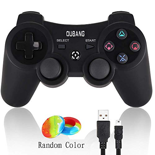 PS3 Controller Wireless - OUBANG Upgrade Version Best PS3 Games Remote Bluetooth Sixaxis Gamepad for PlayStation3 (Black)