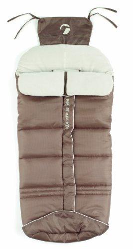 Jané Basic Saco para Silla de Paseo, Interiro Polar, Universal, Apertura Central, Protege de lluvia y Viento, Color Stone