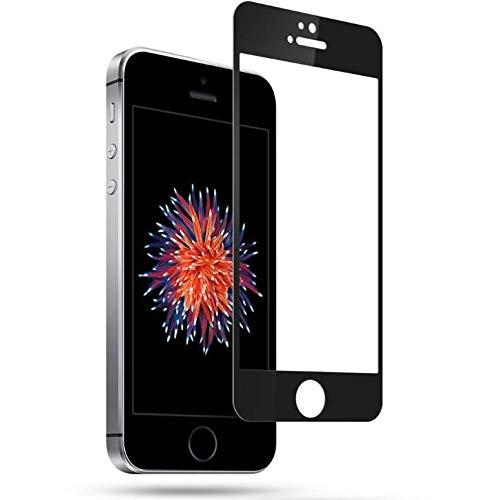 DolDer Apple iPhone SE/5S/5 Cristal Templado DolDer 9H 2.5D Full Cover Anti-shatter Película de La Pantalla de Vidrio Templado Screen Guard Tempered Glass Screen Protector para Apple iPhone SE/5S/5 - Negro