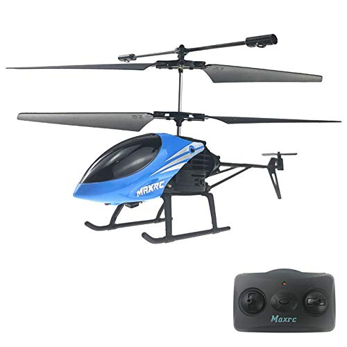 Helicóptero de Control Remoto, helicópteros RC con giroscopio y luz Avión eléctrico Inteligente Helicóptero Dron de Juguete Volador para niños Resistente a choques