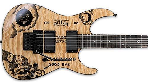 Kit Completo guitarra Ouija Stickers + Inlays fret markers Moon & Stars (negro)