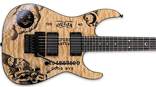 Set Ouija-Sticker für Gitarren- oder Bassgitarrenkörper Schwarz