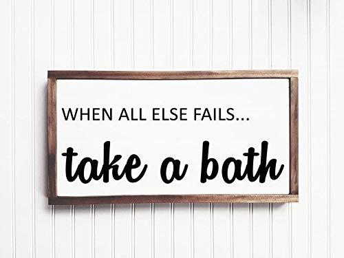 Ced454sy nemen een bad hout teken badkamer teken badkamer Decor poeder kamer huisdecoratie