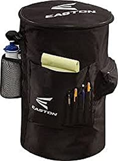 EASTON COACH'S Slip Over Bucket Organizer Cover | 2020 | Black | Padded Seat Top | Organization Panel For Scorecard, Notebook, Line Up Card, Pens, Water Bottle | Carry Strap