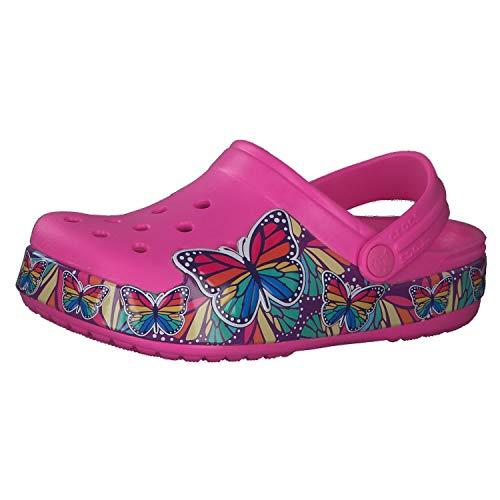 crocs Mädchen Sandale Fun Lab Multi-Butterfly Band Lights Clog 206158 Electric Pink 28-29