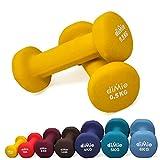diMio 0,5 kg Neopren Gymnastik Hanteln im Doppelpack, Soft-Grip, für Fitness, Ausdauertraining und...