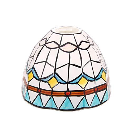 GLS Tiffany Style - Pantalla de repuesto hecha a mano, pantalla de cristal, montaje empotrado, lámpara de techo, lámpara de pared, lámpara de escritorio (001, un vidrio)
