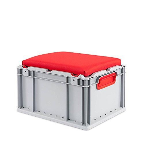 aidB - Sitztruhen in Rot, Größe 400 x 300 x 265 mm