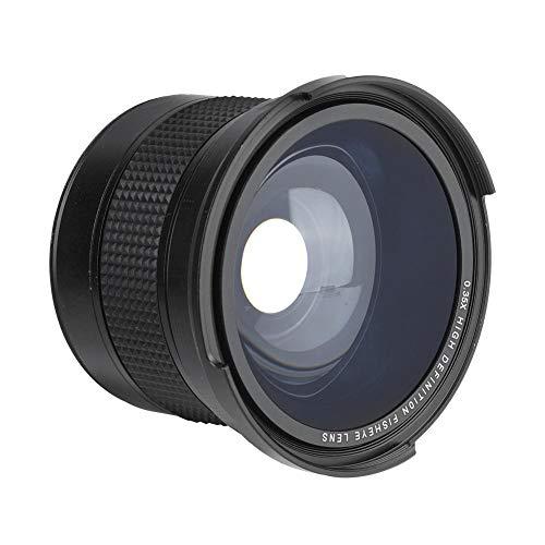 Lente de Ojo de pez Profesional de 58 mm 0.35X, Lente de cámara Gran Angular para cámaras DSLR, para Canon, para Nikon, para Sony, para Minolta, etc.