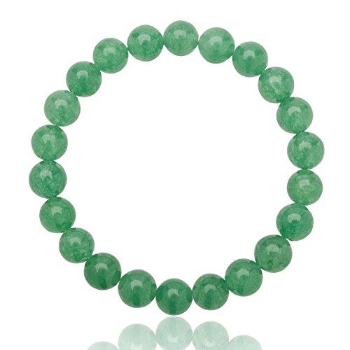 Unique Chakra Buddha Perlen Armband 8mm Aventurin Edelstein Energiearmband Heilsteine dehnbar Unisex Juweliers Qualität